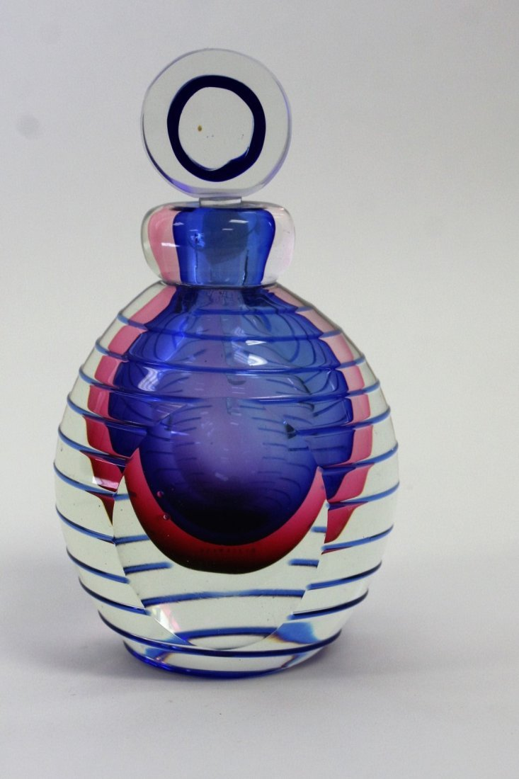 Murano Art Glass Modernism Perfume Bottle