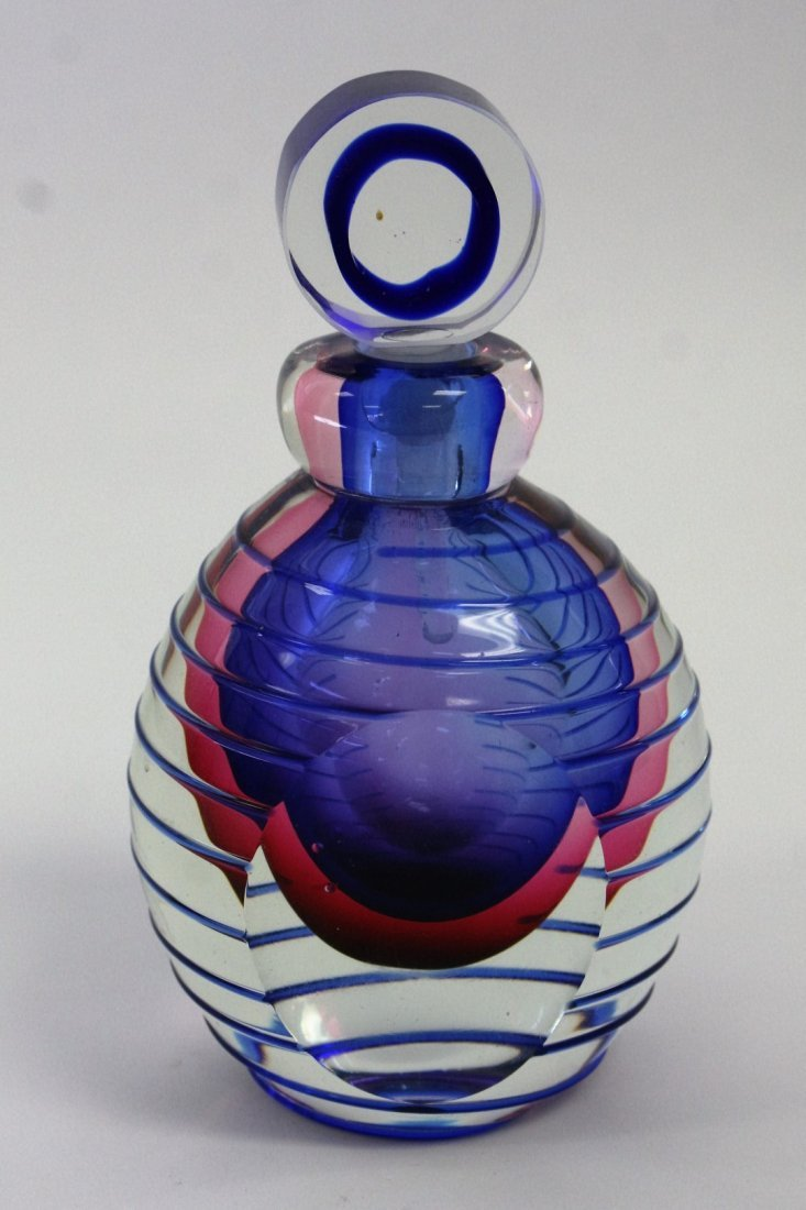 Murano Art Glass Modernism Perfume Bottle - 2