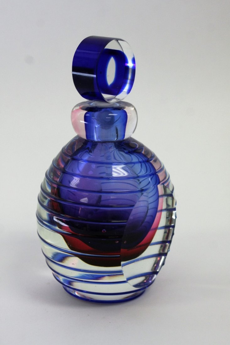 Murano Art Glass Modernism Perfume Bottle - 3