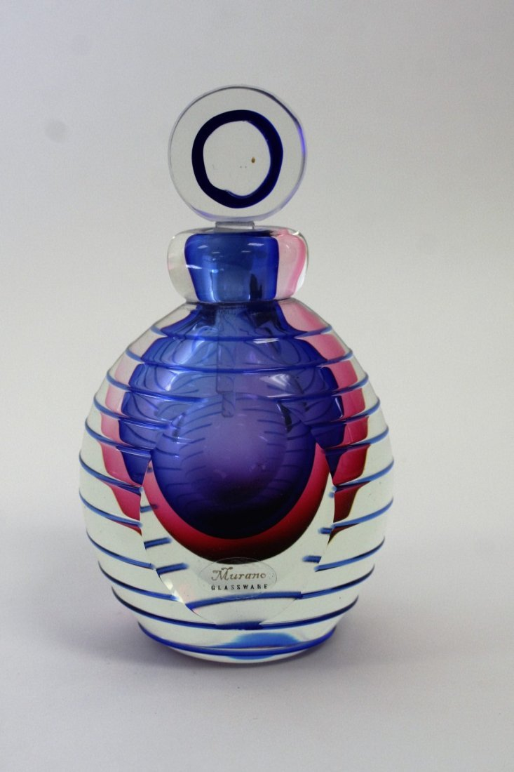 Murano Art Glass Modernism Perfume Bottle - 5