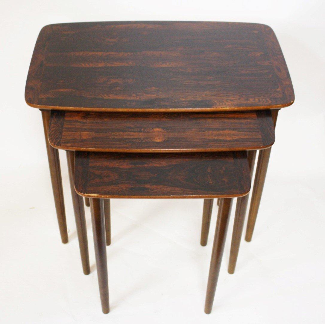 Set of Three(3) Mid Century Nesting Tables - 2