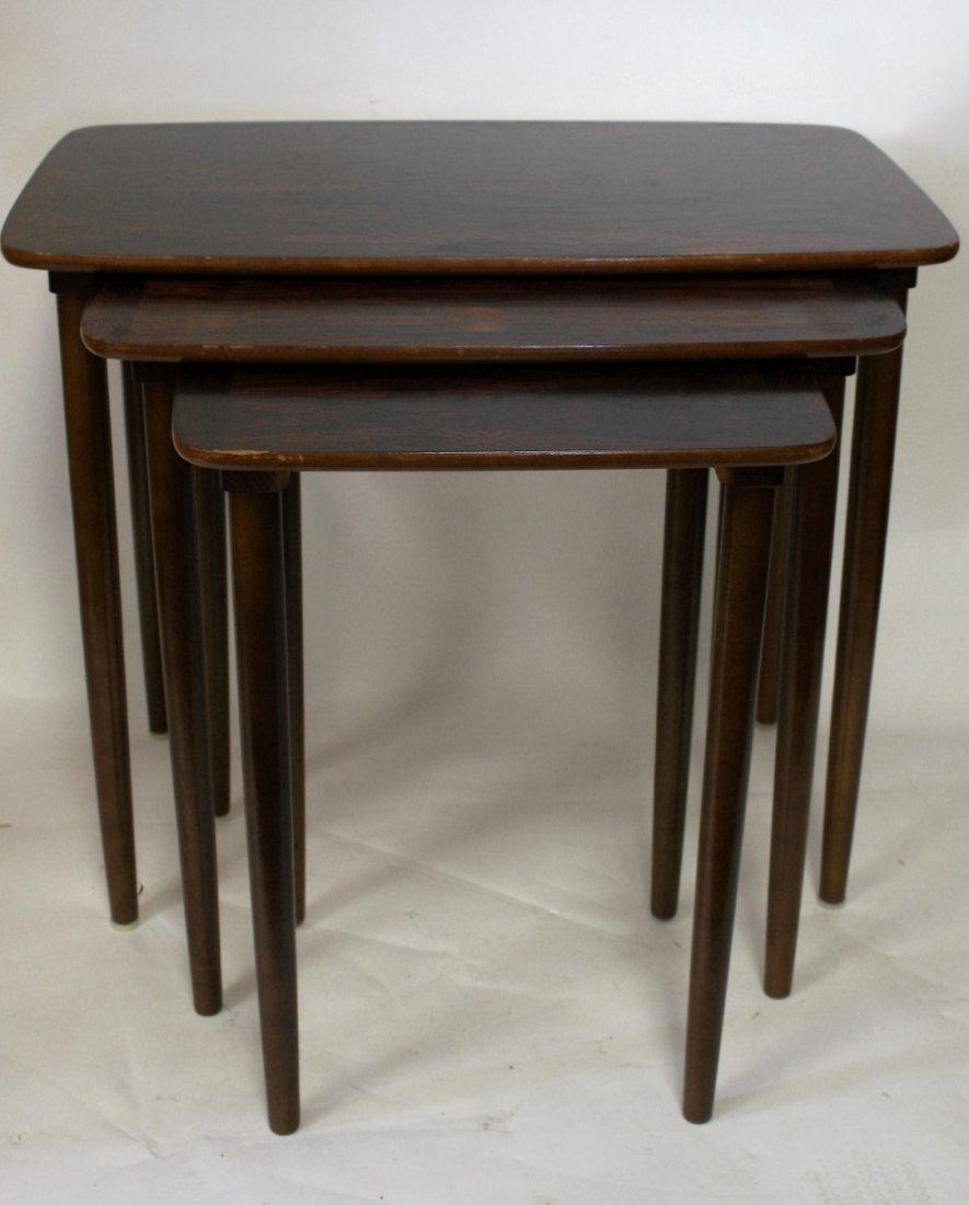 Set of Three(3) Mid Century Nesting Tables - 3
