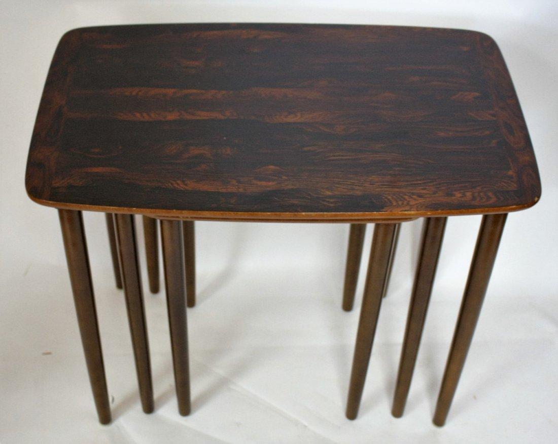 Set of Three(3) Mid Century Nesting Tables - 4
