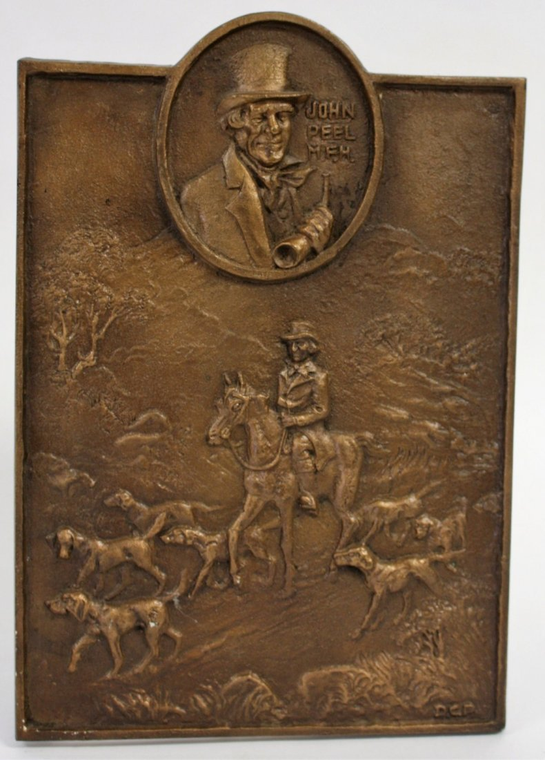 John Peel Bronze Bas Relief Plaque