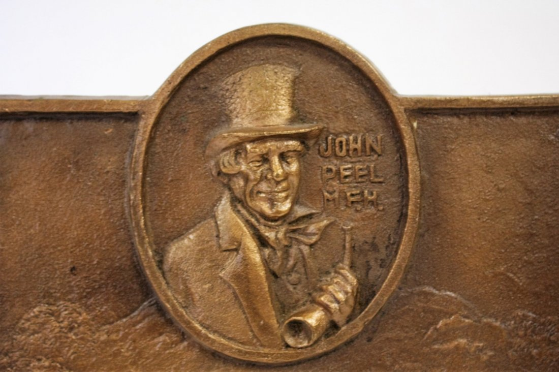 John Peel Bronze Bas Relief Plaque - 2