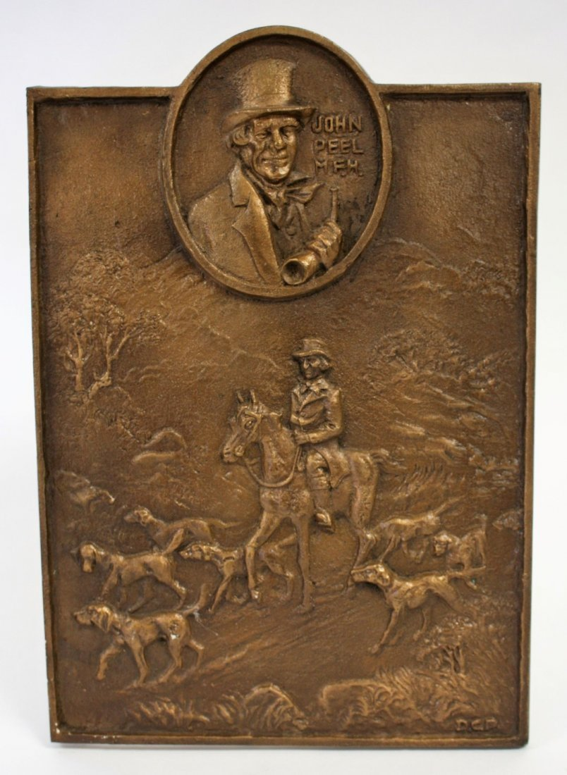 John Peel Bronze Bas Relief Plaque - 4