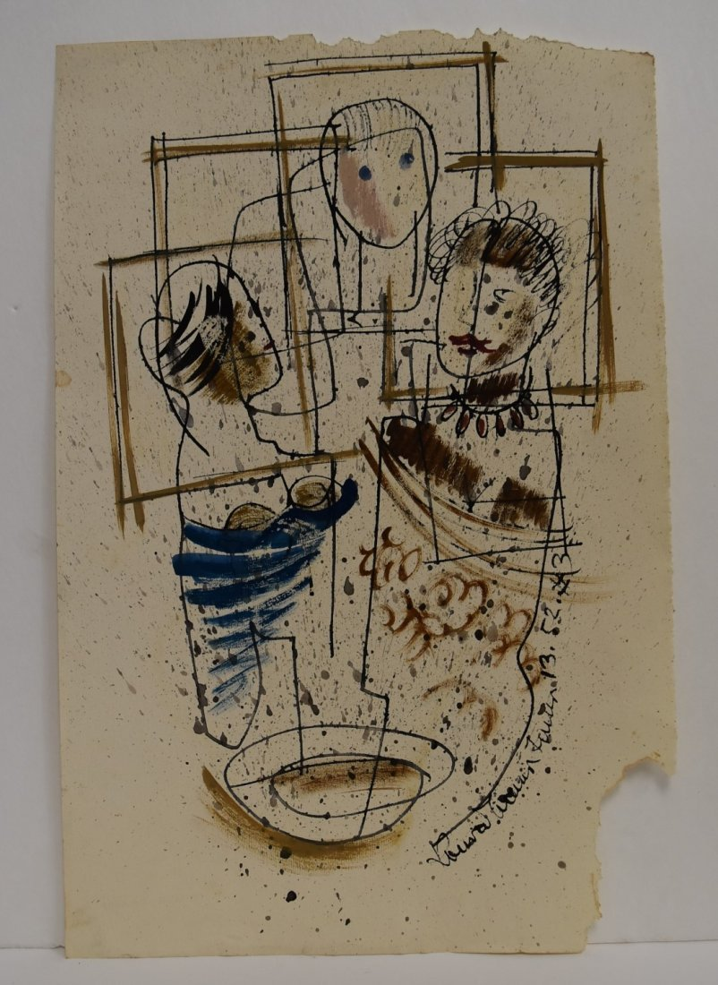 Konrad Cramer; 20thC. American Mixed Media Signed - 2