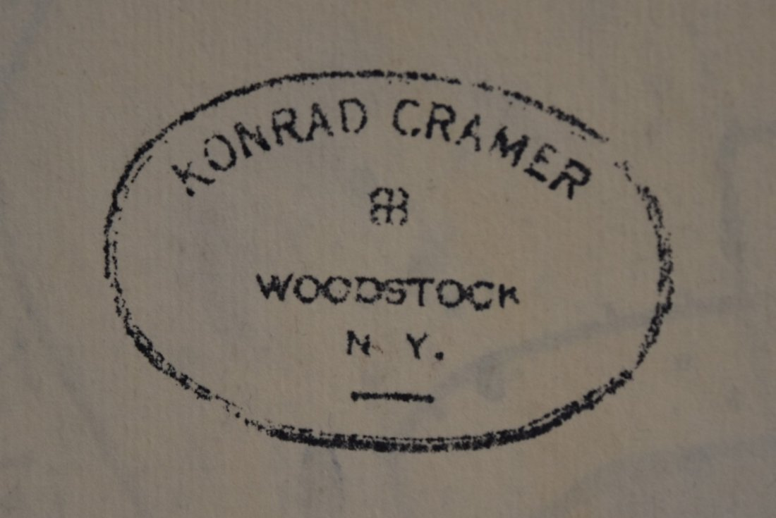 Konrad Cramer; 20thC. American Mixed Media Signed - 6