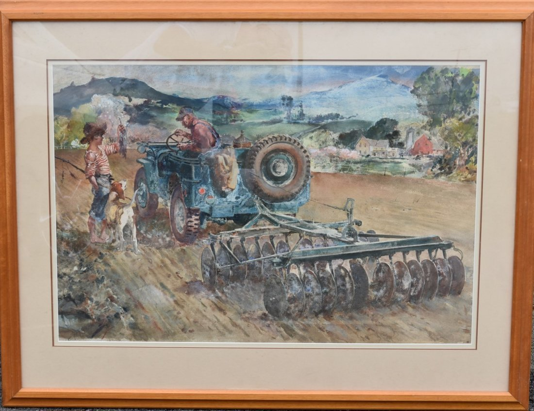James Sessions; 20thC. American Watercolor Signed