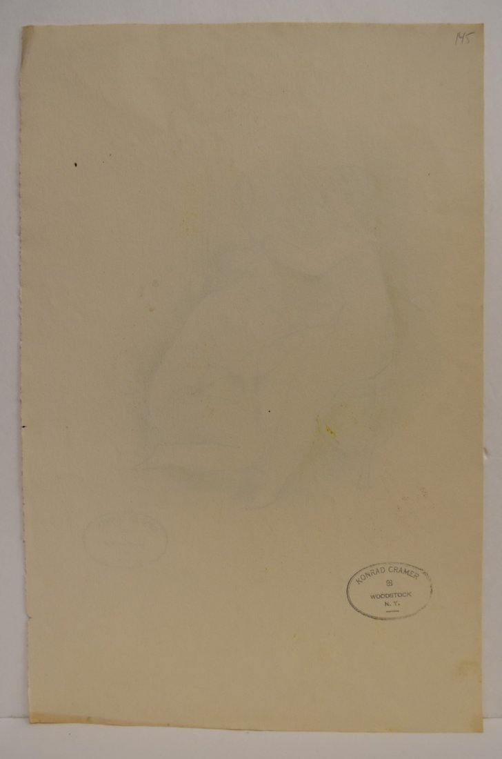 Konrad Cramer; 20thC. American Ink Drawing Signed - 4