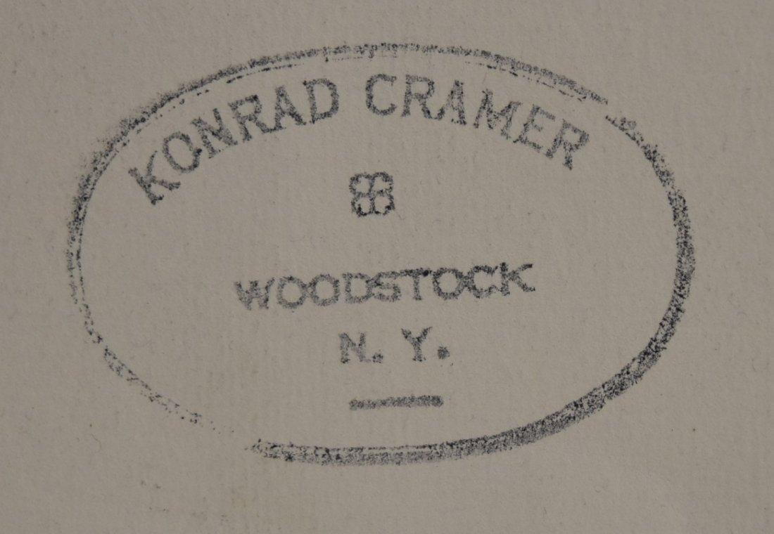 Konrad Cramer; 20thC. American Mixed Media Signed - 4