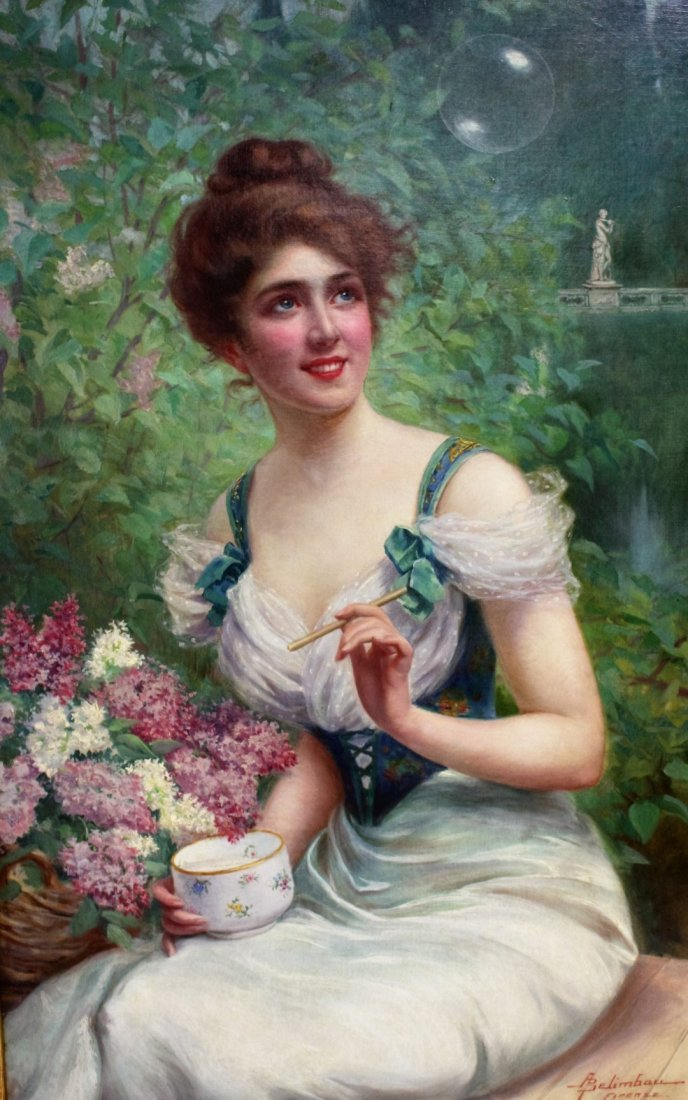 Adolfo Belimbau; Egyptian/Italian Oil Painting Signed