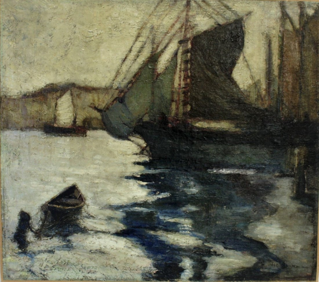 John H. Twachtman; American Oil Painting Signed