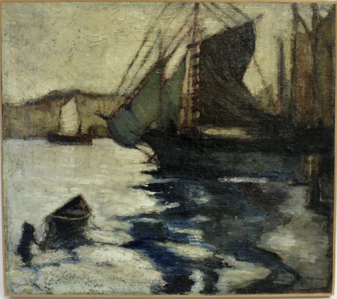 John H. Twachtman; American Oil Painting Signed - 2