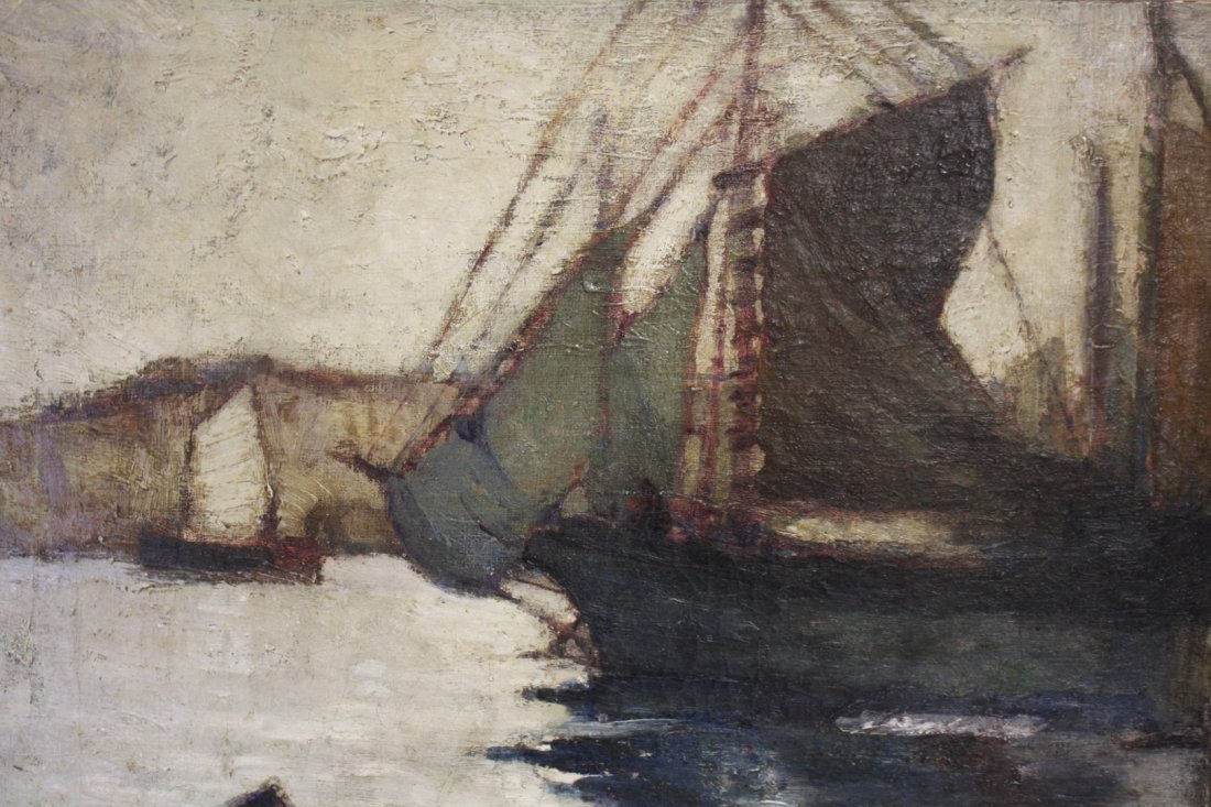 John H. Twachtman; American Oil Painting Signed - 3