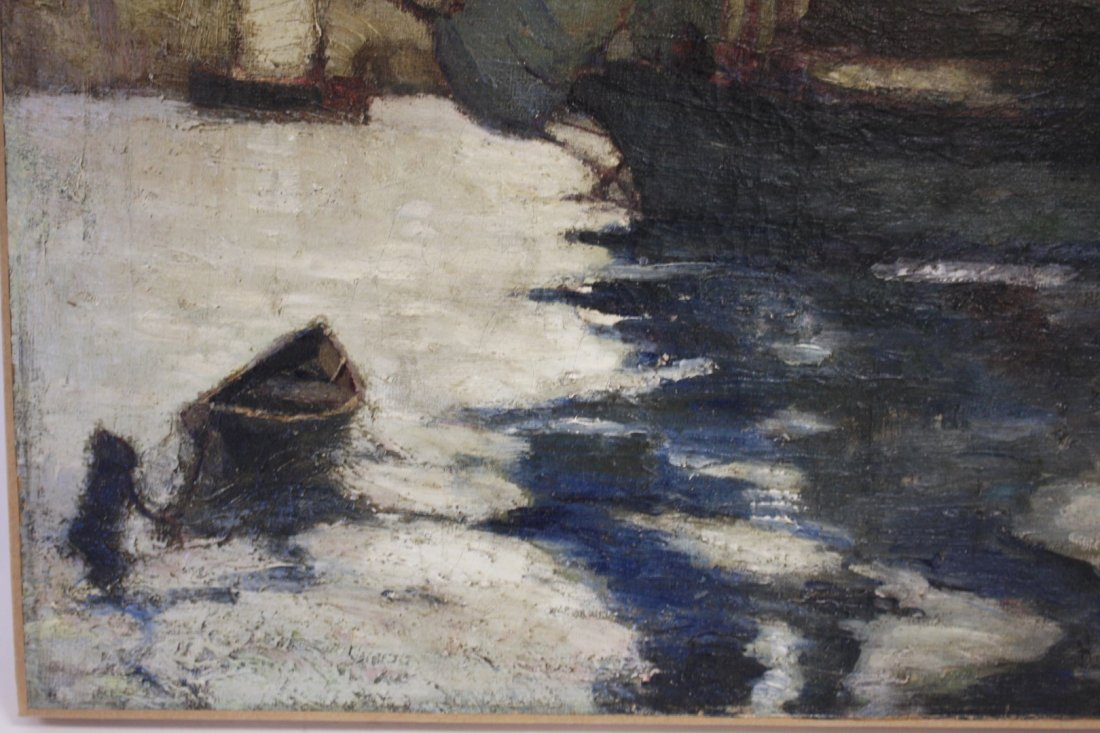 John H. Twachtman; American Oil Painting Signed - 4