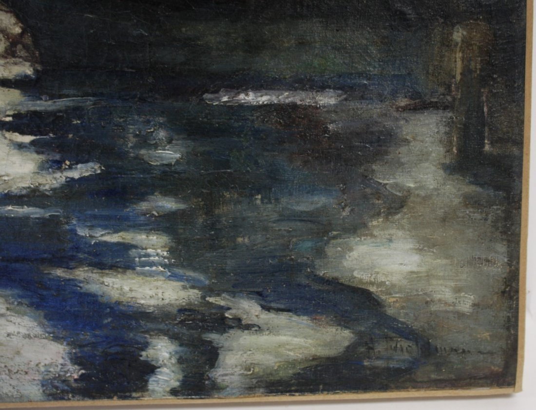 John H. Twachtman; American Oil Painting Signed - 5