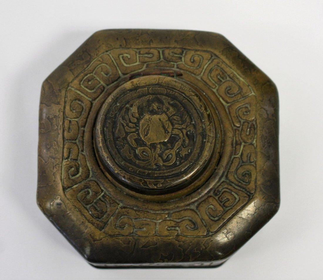 Tiffany Studios Bronze Zodiac Inkwell - 2
