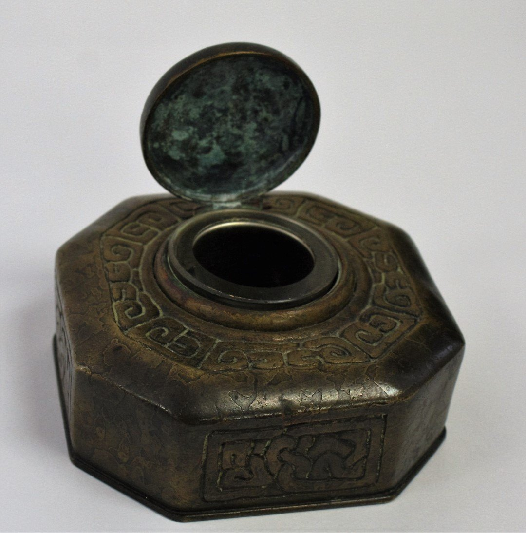 Tiffany Studios Bronze Zodiac Inkwell - 4