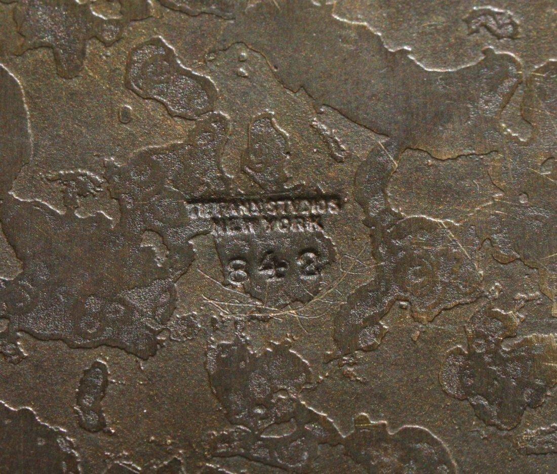 Tiffany Studios Bronze Zodiac Inkwell - 7
