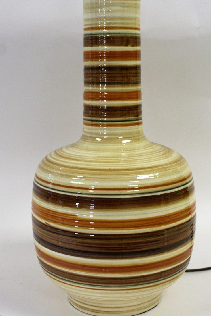 Mid Century Pottery Table Lamp - 3