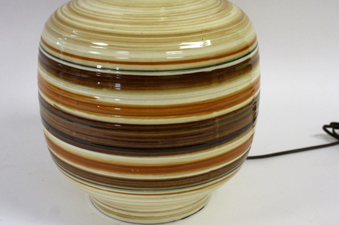 Mid Century Pottery Table Lamp - 4