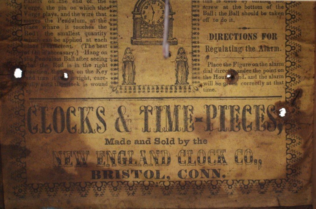 New England Clock Co. Mantle Clock - 8