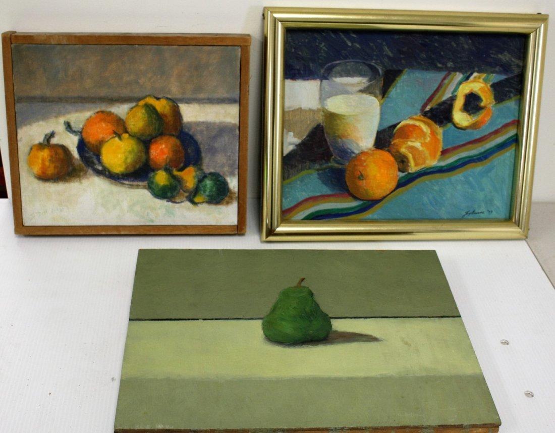 Joy Divine; Three(3) 20thC. American Oil Paintings
