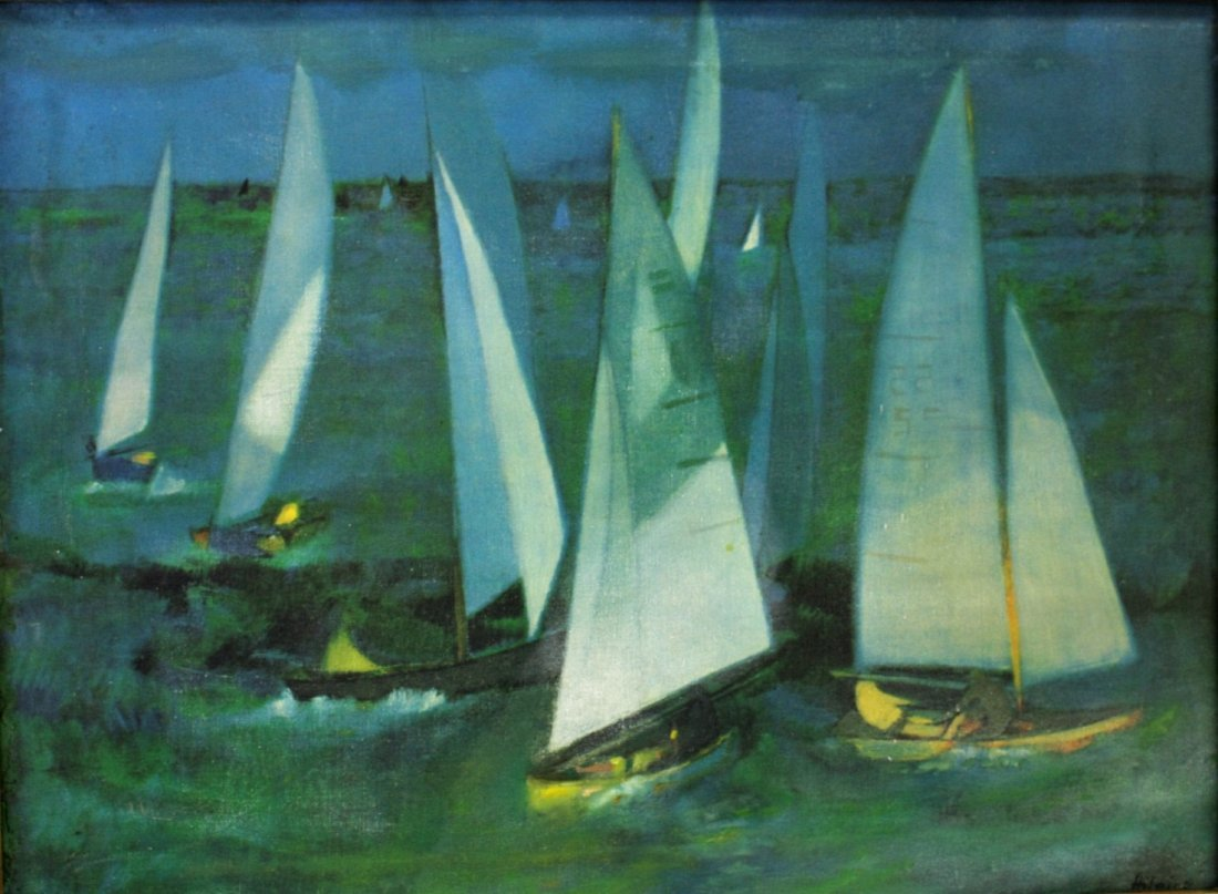 Hilaire; 20thC. Oil Paintnig Signed