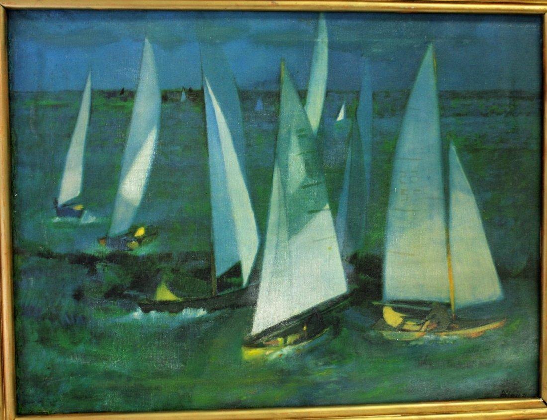 Hilaire; 20thC. Oil Paintnig Signed - 2