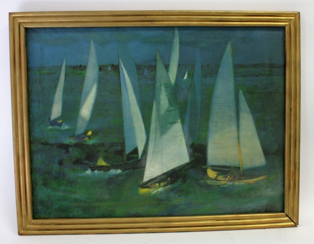 Hilaire; 20thC. Oil Paintnig Signed - 5