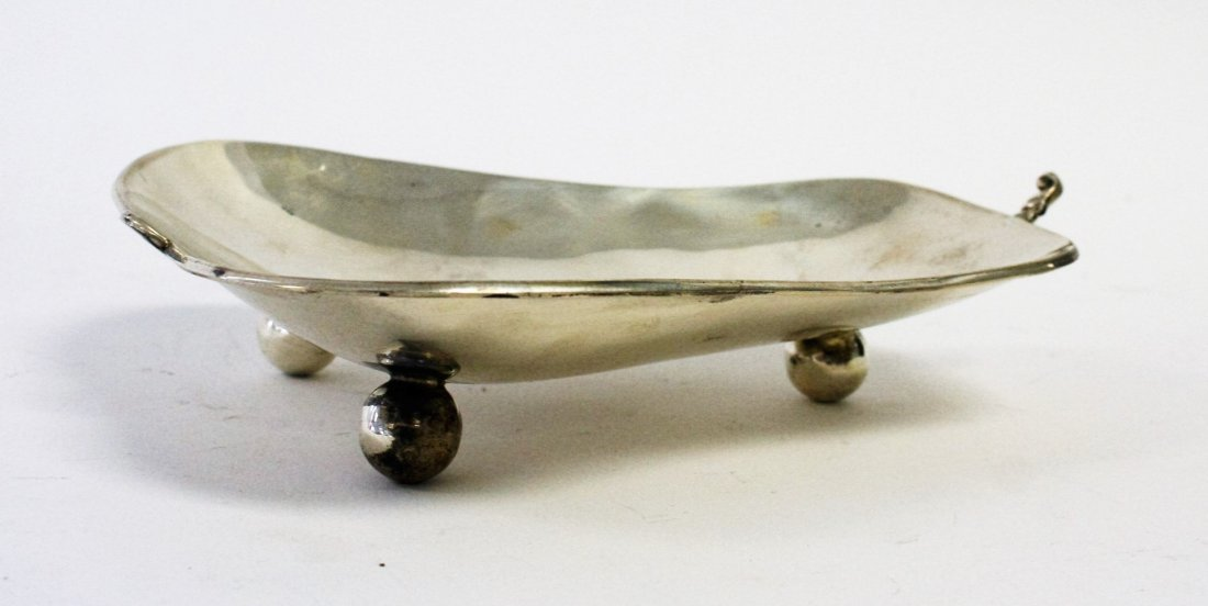 Sterling Silver Pear Shape Footed Dish - 3