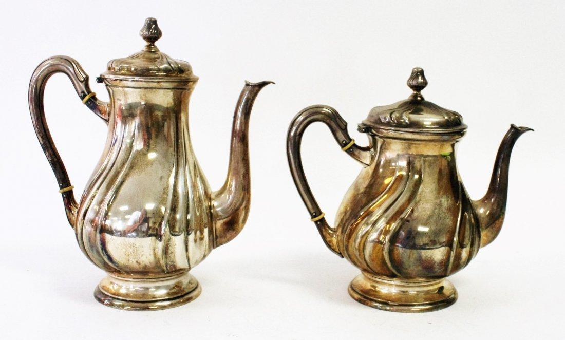 Two (2) 800 Silver Tea Pots - 2