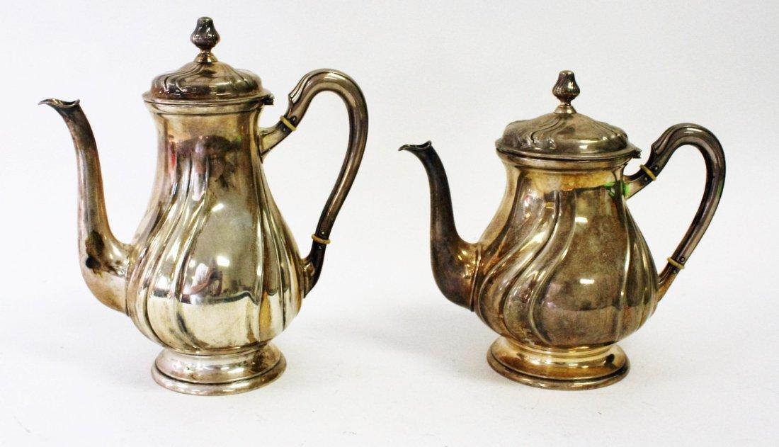 Two (2) 800 Silver Tea Pots - 3