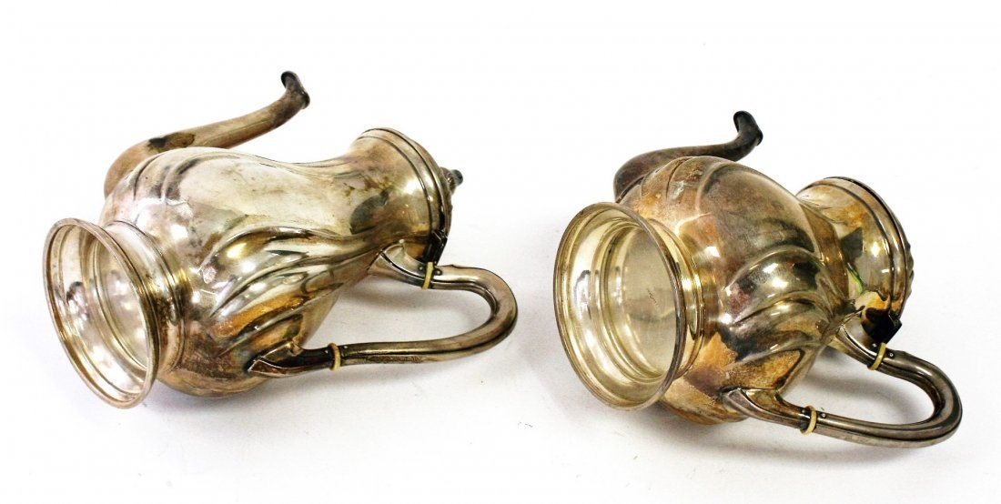 Two (2) 800 Silver Tea Pots - 4