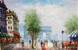 J. Bardot, Parisian Scene Painting