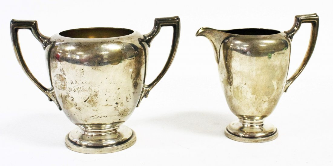 Reed And Barton Sterling Silver Creamer and Sugar