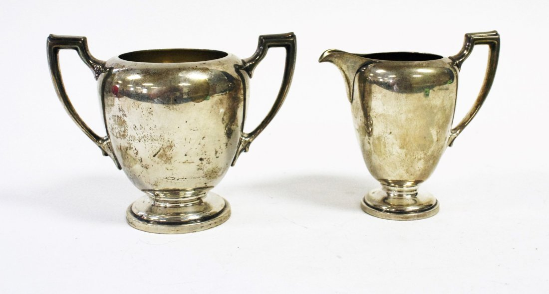 Reed And Barton Sterling Silver Creamer and Sugar - 2