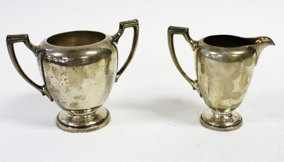 Reed And Barton Sterling Silver Creamer and Sugar - 4