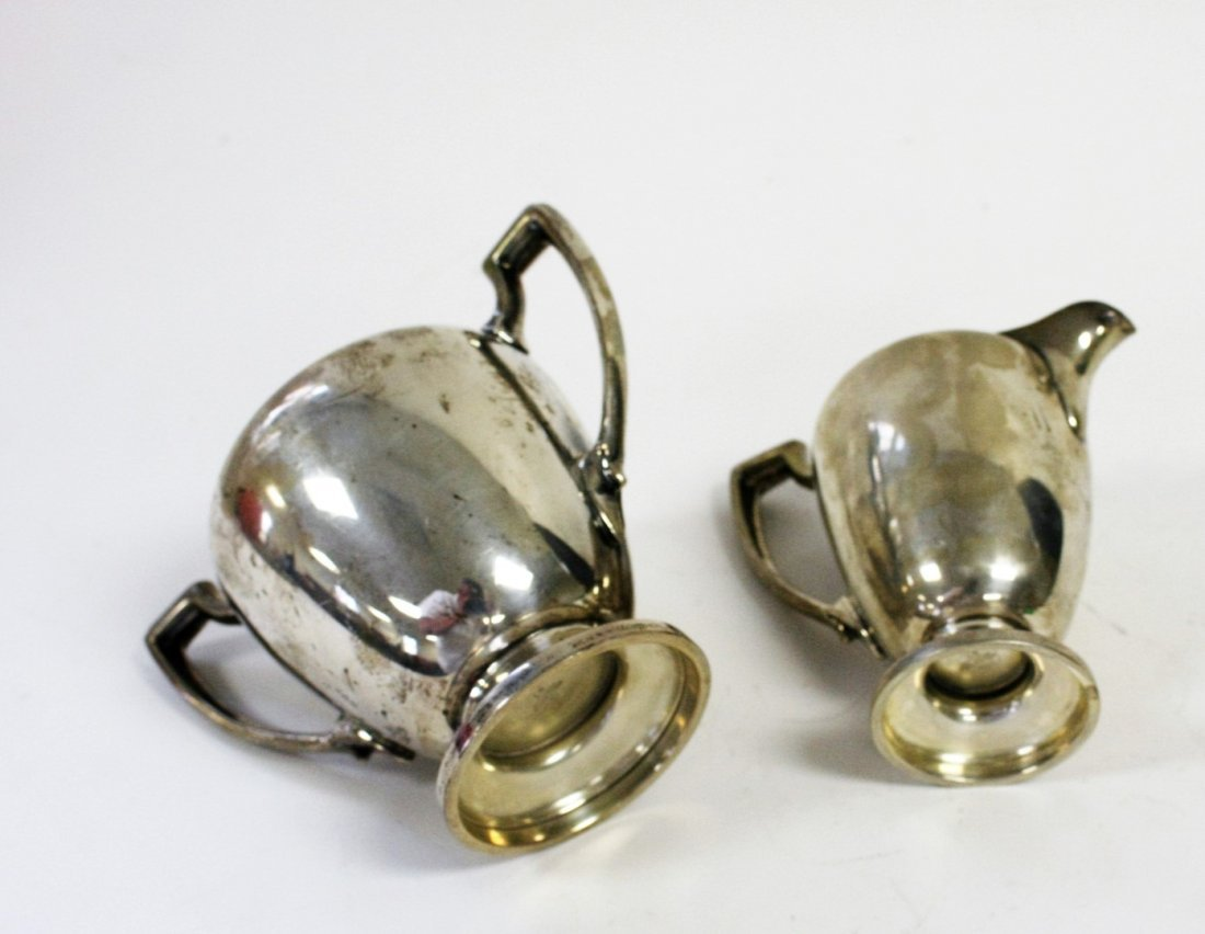 Reed And Barton Sterling Silver Creamer and Sugar - 5