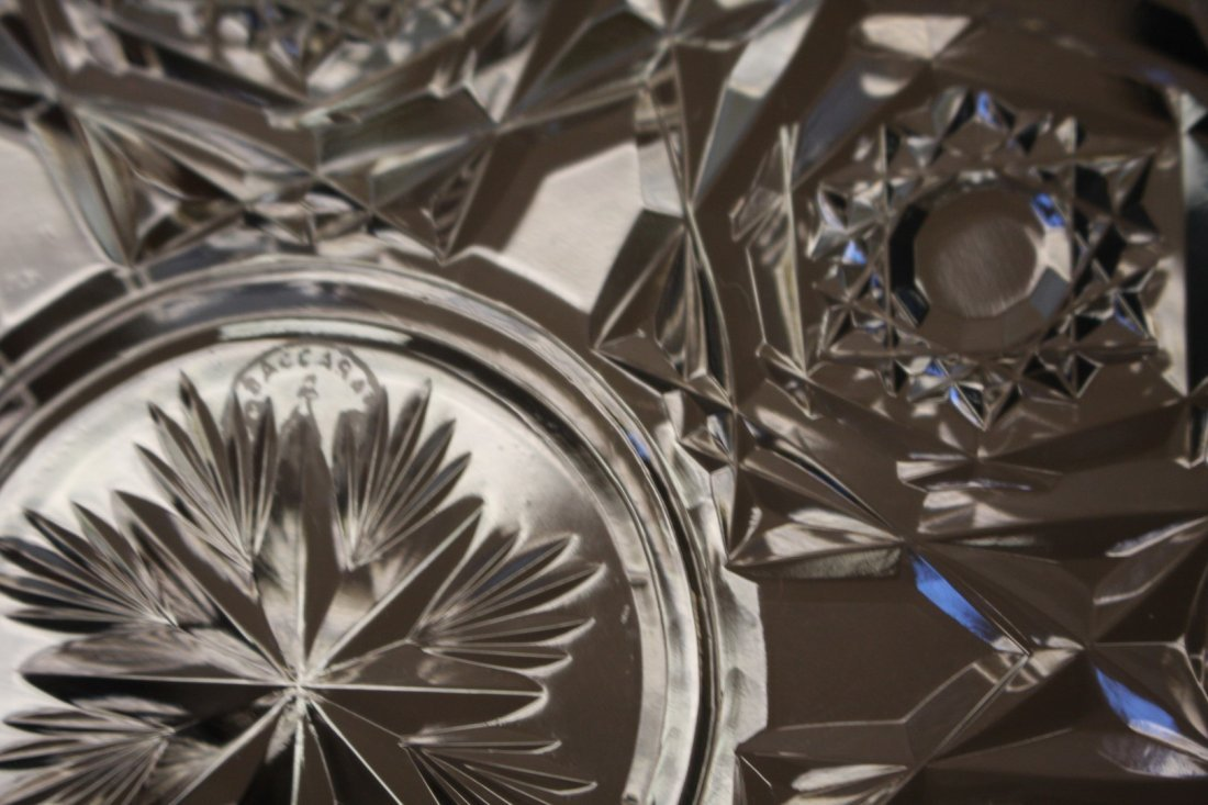 Six(6) Baccarat Crystal Dessert Plates - 5