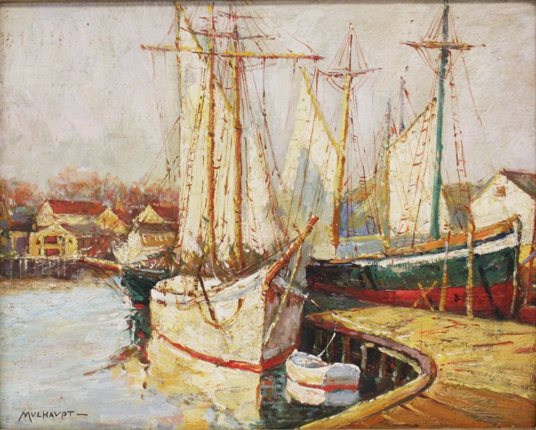 Frederick Mulhaupt(after); American Oil Painting
