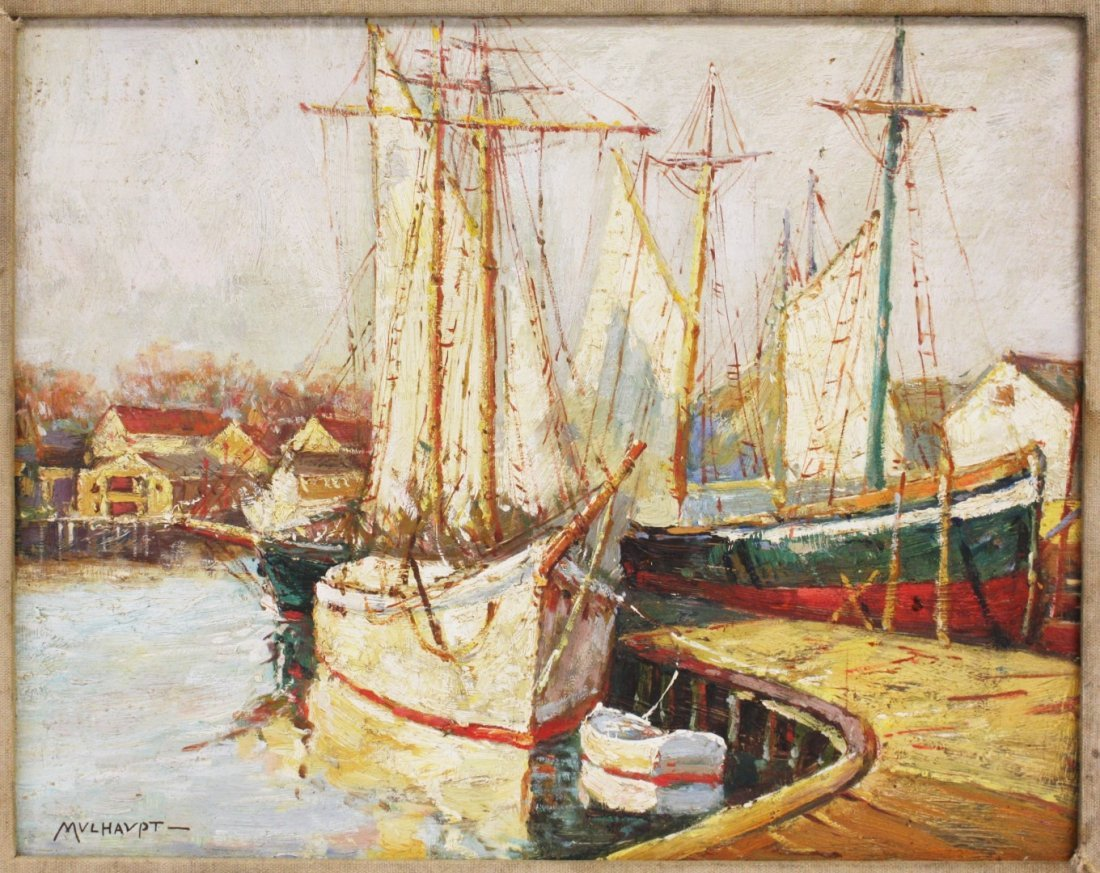 Frederick Mulhaupt(after); American Oil Painting - 2