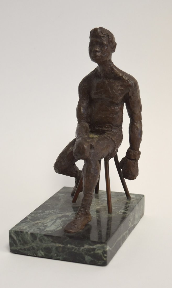 June Roth; 20thC. American Bronze - The Boxer