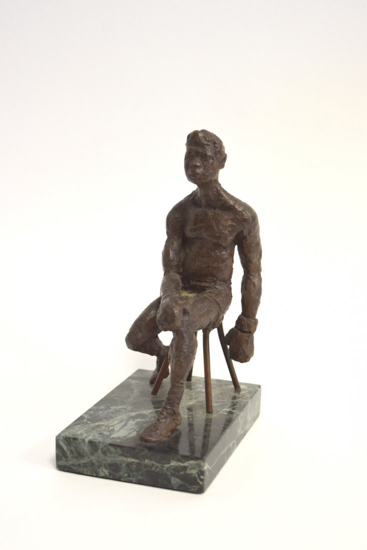 June Roth; 20thC. American Bronze - The Boxer - 2