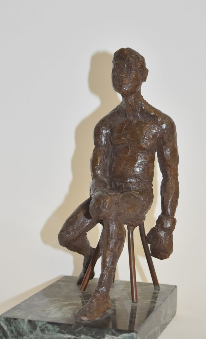 June Roth; 20thC. American Bronze - The Boxer - 3