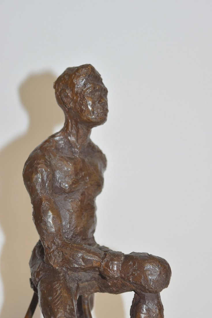 June Roth; 20thC. American Bronze - The Boxer - 5