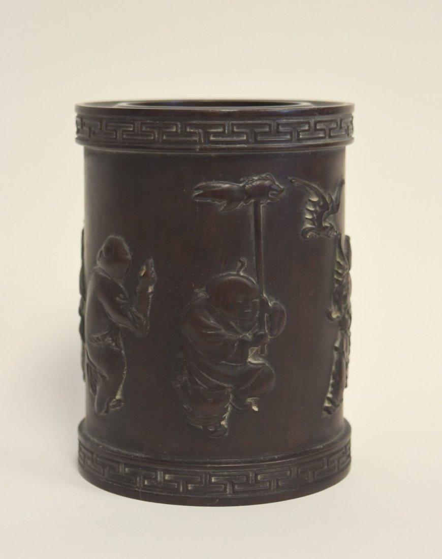 Chinese Zitan Wood Brush Pot