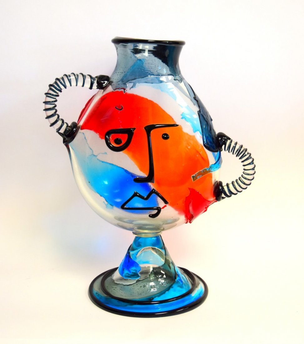 20thC. Murano Glass Sculpture - Hommage to Picasso