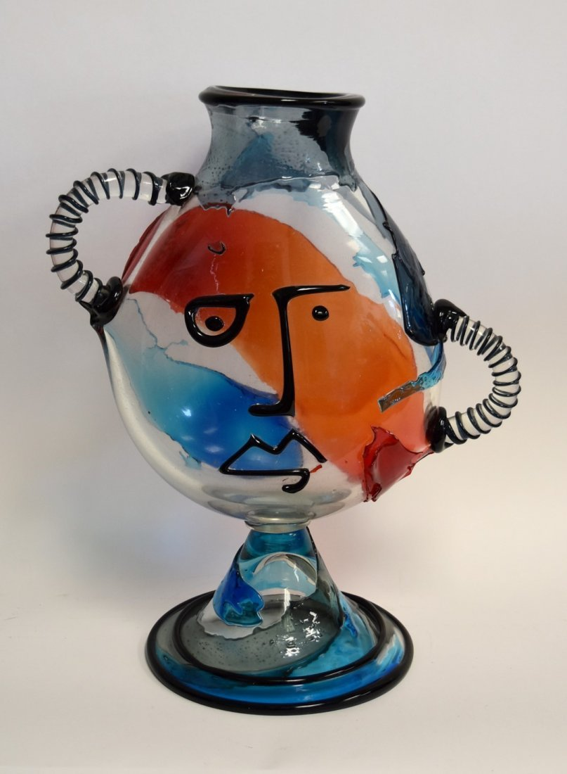 20thC. Murano Glass Sculpture - Hommage to Picasso - 2